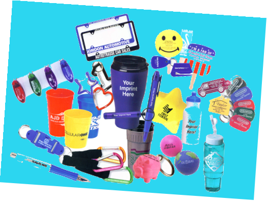 Promotional merchandise, promotional items, promotional products, promotional gifts, or advertising gifts, sometimes nicknamed swag or schwag, are articles of merchandise (often branded with a logo or slogan) used in marketing and communication programs.